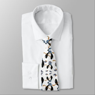 Cute and Funny Hockey Penguin Pattern Tie tie