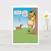 Cute and Funny Horse and Dachshund Birthday Card