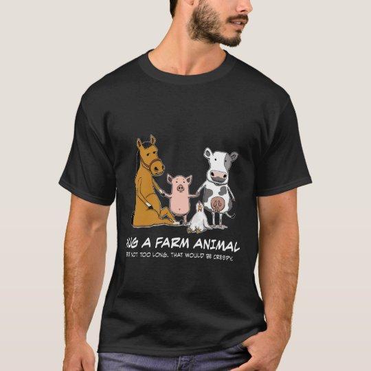 Cute and Funny Hug a Farm Animal T-Shirt