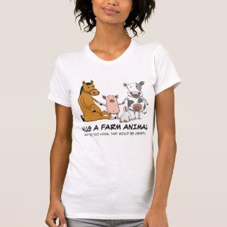 Cute and Funny Hug a Farm Animal T Shirt