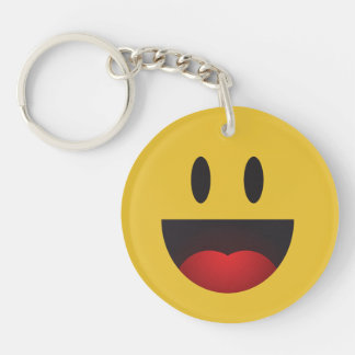 Cute and Funny Laughing Yah emoji Keychain