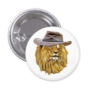 Cute and Funny Lion Button