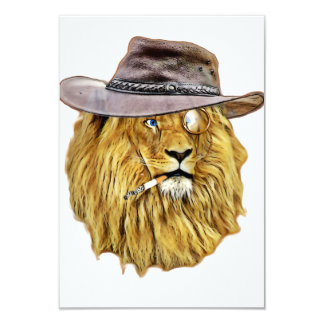 Cute and Funny Lion Card