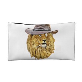 Cute and Funny Lion Cosmetic Bag
