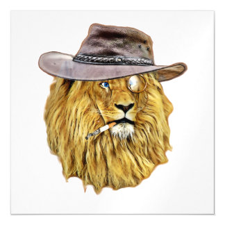 Cute and Funny Lion Magnetic Card