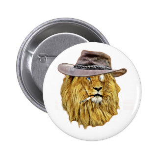 Cute and Funny Lion Pinback Button