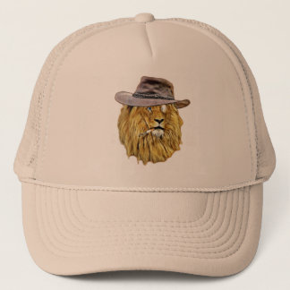 Cute and Funny Lion Trucker Hat