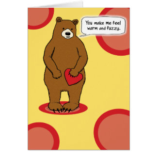 Cute and Funny Love Card: Warm and Fuzzy Card