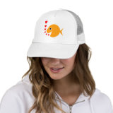 Cute and Funny Love Fish hat