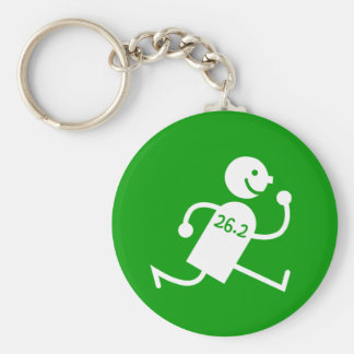 Cute and funny marathon basic round button keychain