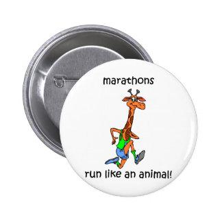 Cute and funny marathon 2 inch round button