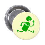 Cute and funny marathon pinback button