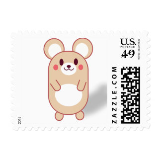 Cute and Funny Mouse with Big Ears Postage Stamps