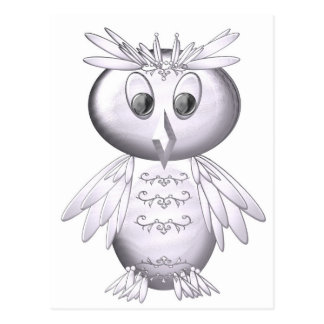 cute and funny owl pattern postcard