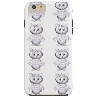 cute and funny owl pattern tough iPhone 6 plus case