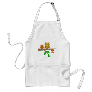 cute and funny owls adult apron