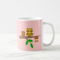 cute and funny owls coffee mug
