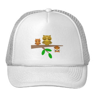 cute and funny owls trucker hat