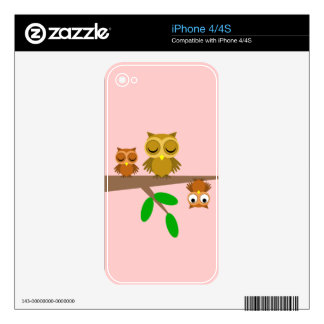 cute and funny owls iPhone 4 decal