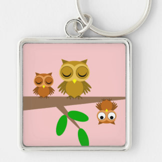 cute and funny owls keychains