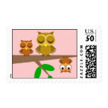 cute and funny owls postage