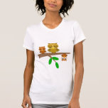 cute and funny owls t shirt
