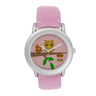 cute and funny owls wristwatch