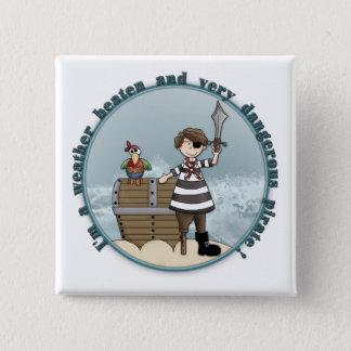 Cute and funny Pirate design Button