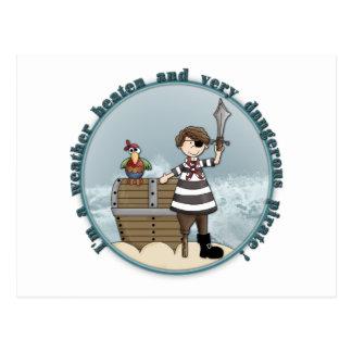 Cute and funny Pirate design Postcard