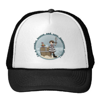 Cute and funny Pirate design Trucker Hat