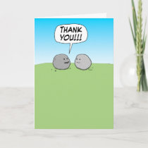 Cute and Funny Thank You Card: You Rock!