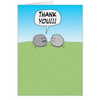 Cute and Funny Thank You Card: You Rock! Greeting Card