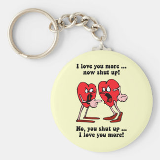 Cute and funny Valentine's Day Basic Round Button Keychain