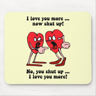 Cute and funny Valentine's Day Mousepads