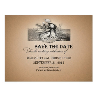 cute and funny vintage save the date post cards