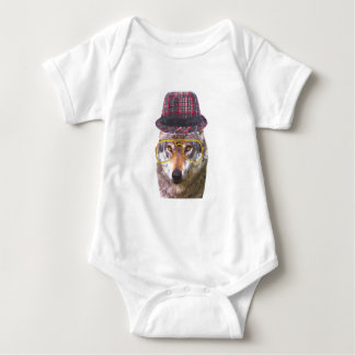 Cute and funny wolf animal for baby/kids baby bodysuit
