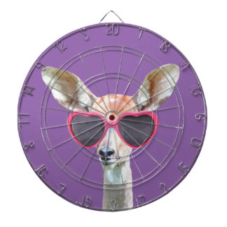 Cute and funny woodland antelope animal kids dart board
