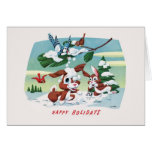 Cute and Fuzzy Animals - Happy Holidays Card