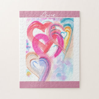 Cute and Girly Hearts Puzzle