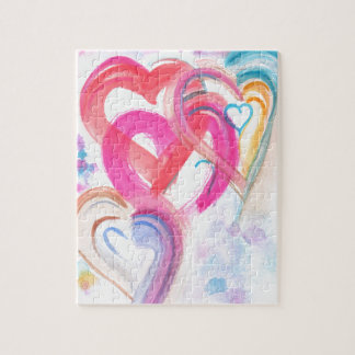 Cute and Girly Hearts Puzzle with Gift Box