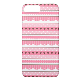 Cute and Girly Light Pink Pattern Design iPhone 7 Plus Case