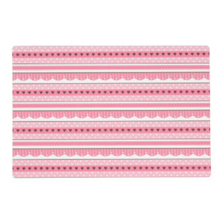 Cute and Girly Light Pink Pattern Design Placemat