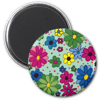 Cute and Girly Mint Green Floral Magnet Magnets