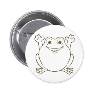 Cute and Happy Cartoon Frog Button
