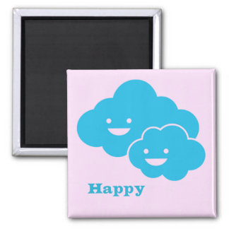 Cute and Happy Clouds Magnet