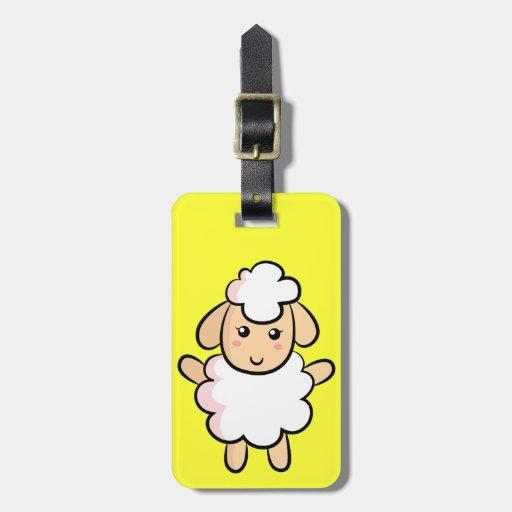 Cute and Happy Farm Sheep Travel Bag Tags