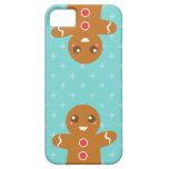 Cute and Happy Gingerbread Man for Christmas iPhone 5 Case