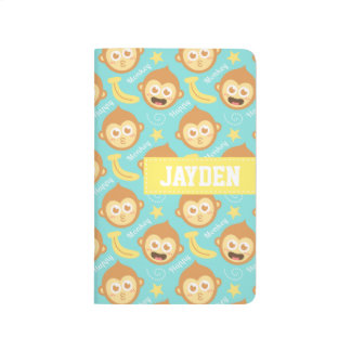 Cute and Happy Monkey and Bananas Pattern Journal