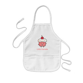 Cute and Happy Pink Cupcake Girls Apron