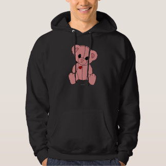 Cute and Happy Pink Teddy Bear Hoody